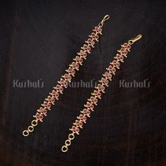 Designer Antique matils studded with Synthetic Stones and Beads plated with gold polish! Wedding Jewellery Designs, Antique Jewellery Designs, Antique Jewellery Online, Gold Earrings Designs, Fashion Jewellery Online, Gold Jewellery Design, Latest Jewellery, Wedding Jewelry, Antique Jewelry