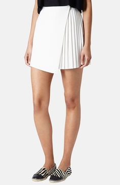 Topshop Pleat Side Wrap Skirt
