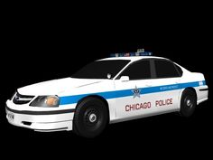 3D Chevy Impala Chicago Police Car - 3D Model