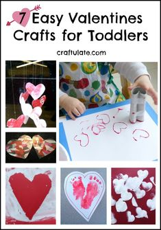 These Valentines crafts for toddlers are super easy and perfect for celebrating all things hearts and Valentines. Toddler Valentine Crafts, Valentine Activities, Baby Crafts, Toddler Crafts, Valentines Diy, Fun Crafts, Arts And Crafts, Toddler Activities, Toddler Learning