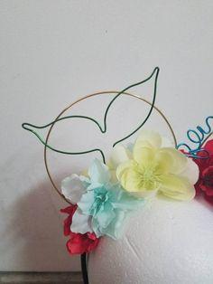 Items similar to Ariel Inspired Wire Ears on Etsy Disney Minnie Mouse Ears, Diy Disney Ears, Disney Diy, Disney Crafts, Disneyland Ears, Disney Headbands, Micky Ears, Cute Crafts, Diy Flowers