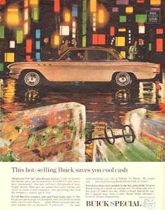 Buick Hot Selling Saves You Cool Cash 1961 - Mad Men Art: The 1891-1970 Vintage Advertisement Art Collection
