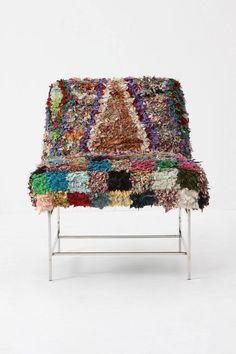 modern moroccan chair. made from vintage rugs.