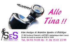 Allo Tina ! Toujours disponible du lundi au samedi de 9h30 à 19h00, laisser votre message Tina vous recontacte dans les 48 heures.
