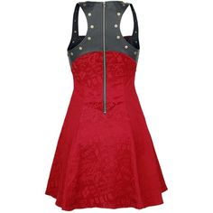 Suicide Squad Short dress ($81) ❤ liked on Polyvore featuring dresses, short dresses, red dress, sexy short dresses, sexy mini dress and sexy zipper dress