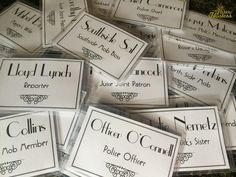 Name Tags - Murder At The Juice Joint - A Murder Mystery Party - Night of Mystery | The Bubbly Hostess
