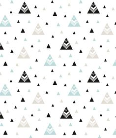 Origami Play Tipi's Mint - Behang