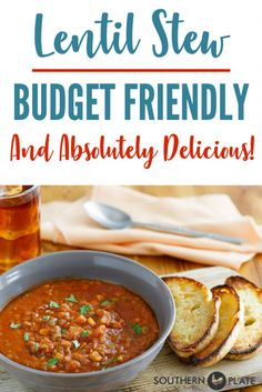 Budget Friendly & Delicious Lentil Stew is an easy, hearty, healthy new family favorite! #LentilsForYourSoul #ad