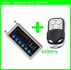 ALKcar remote control transmitter detector copier 433mhz remote key code receiver scanner + 433mhz remote control key clone A002