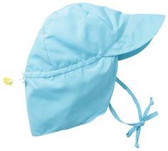 i play. Baby Flap Sun Protection Swim Hat, Aqua, 0-6 Months