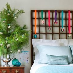 Hang Baubles from Headboards