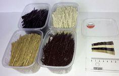 Wsuwki-kokówki-szpilki do włosów SANDRA 2 kg MIX Container, Blush, Ebay, Rouge