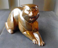 Margriet Barends, 'Kat',  brons, oplage 8, hoogte 25 cm / lengte 40 cm