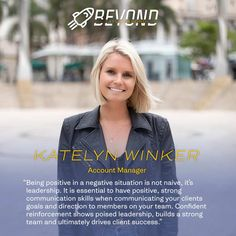 Meet Katelyn, Account Manager here at T&P! Her motto is to always stay positive, especially in negative situations to show poised leadership and drive client success. you can find Katelyn at the beach, a local brewery or music festival 💛 Local Brewery, Accounting Manager, Staying Positive, Communication Skills, Naive, Motto, Leadership, Digital Marketing, Interview