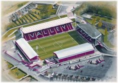 Charlton Athletic F. - The Valley - tilskurer Charlton Athletic Football Club, Charlton Athletic Fc, Football Art, Football Stadiums, Championship League, England, Aerial View, Art Images, Over The Years