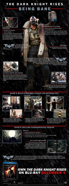 The Dark Knight Rises - Being Bane [Infographic] | By: Warner Bros, via io9 (#bane #darkknight #infographic)