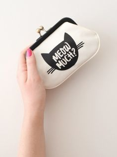 Meow Much? coin purse from Alphabet Bags. The purrrrrfect little gift for any cat lover!