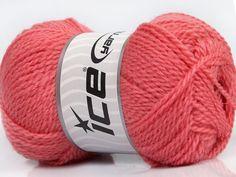 Fiber Content 60% Virgin Wool 40% Acrylic Rose Pink Brand Ice Yarns fnt2-43545
