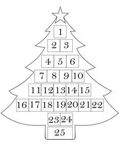 Calendari dell'Avvento da stampare (Foto 9/40) | PourFemme Felt Advent Calendar, Christmas Tree Advent Calendar, 1 Advent, Advent Calenders, Christmas Mom, Homemade Christmas Gifts, Christmas Sewing, Christmas Crafts For Kids, Xmas Crafts