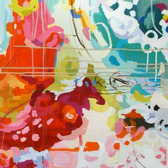 Beautiful & vibrant 'Rosalia' painting by Michelle Armas
