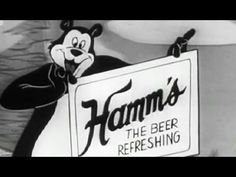 """Hamm's Beer Commercial: """"Hamm's The Beer Refreshing"""" circa 1956 Animated https://www.youtube.com/watch?v=1yHsoW6CTjM #animation #beer"""