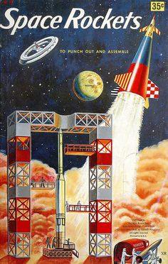 1958 ... punch out and assemble space rockets by x-ray delta one, via Flickr