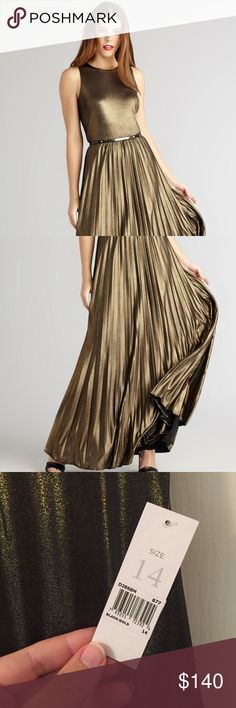 sᴀʟᴇNWT Donna Morgan Maxi This dress is like liquid metal. It is absolutely stunning. I bought it to wear to a wedding and ended up wearing a short dress instead. Beautiful dress. Donna Morgan Dresses Maxi