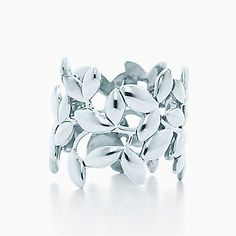 Tiffany & Co. - Paloma Picasso® Olive Leaf band ring in sterling silver. from Tiffany & Co. Saved to Epic Wishlist. Tiffany & Co., How To Become Pretty, Fru Fru, Argent Sterling, Sterling Silver, Crazy Shoes, Girly Things, Girly Stuff, Just In Case
