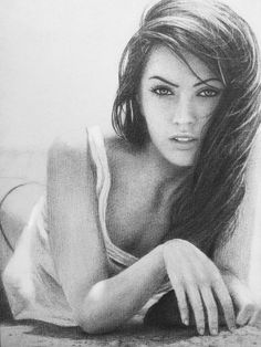 portrait drawing with pencil