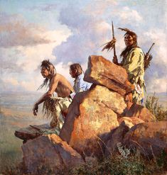 """Petroglyphs on rock formations indicate that the visitors are in a spiritual place,"""" says artist Howard Terpning, """"a place blessed by the long-ago people.""""   Bless your house with this fine art edition from The Greenwich Workshop."""