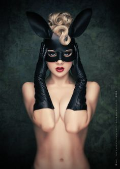 "Masquerade. ""Black Bunny"" by Peter Gonzales"