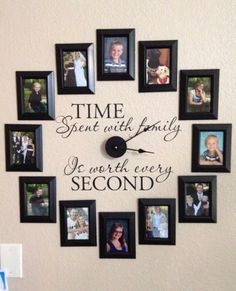 Time Spent With Family Is Worth Every Second Vinyl Decal Clock - How to get vinyl decals to stick to textured walls