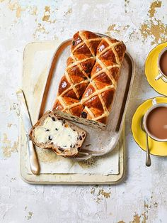 From the sweetest iced bonnets to this spectacular speckled cake, treats from Royal Wedding cake maker Fiona Cairns Easter Treats, Easter Food, Easter Hot Cross Buns, Bread Recipes, Snack Recipes, Best Banana Bread, Cake Makers, Easter Recipes, Sweet Bread