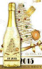 Vianočné darčeky Zlaté šampanské  SEKT 23 karát PF 2015