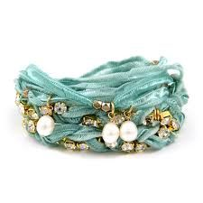 Old scarves would make pretty bracelets. Endless possibilities.