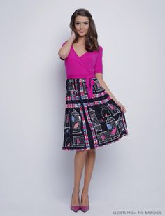 """I love the bright color at the top of the dress, then the patterned flare/flair.  It's a simple dress that I can throw on, feel pretty and """"dressed up"""" without dressing up."""