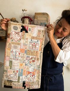 Jessie Chorley - The Shopkeepers Embroidery Stitches, Embroidery Patterns, Hand Embroidery, Applique Quilt Patterns, Jessie, Quilting Projects, Sewing Projects, Couching Stitch, Textiles