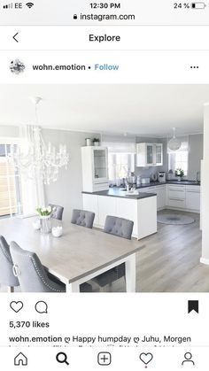 Living room with kitchen - Salon z kuchnia - # Kitchen room . - Living room with kitchen – salon z kuchnia – room - Living Room Kitchen, Home Decor Kitchen, Home Living Room, Kitchen Furniture, Home Kitchens, Living Room Decor, Country Kitchen, Dining Living Room Combo, Small Living Dining