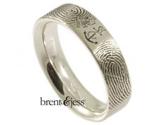 You Are My Anchor Fingerprint Wedding Ring - by Brent & Jess Custom Handmade Fingerprint Wedding Rings and Jewelry