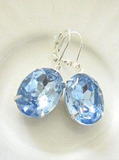 Jewelry Diamond : Sapphire Earrings Estate Style Silver Dangle