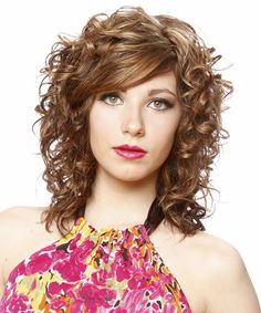 Long Hairstyle - Curly Formal - Light Brunette | TheHairStyler.com