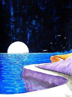 """Saatchi Online Artist Kyle Brock; Painting, """"Roosting Time"""""""
