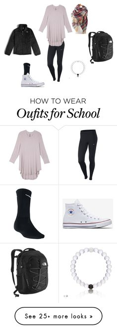 """School Day"" by nager459 on Polyvore featuring The North Face, NIKE, Melissa McCarthy Seven7 and plus size clothing"