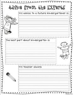 K-3 FREEBIE -- have this year's class write notes to next fall's class using these prompts!