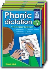 Phonic Dictation is a series of four blackline masters designed to develop students' ability to transfer phonic and spelling skills to extended reading and to writing tasks. It focuses on handwriting, letter formation and correct pencil grip and posture. Speech pathologists, occupational therapists and teachers collaborated in the development of this valuable resource.