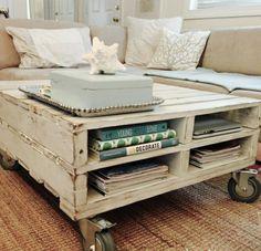 Idées meuble salon: la table basse palette                                                                                                                                                      Plus