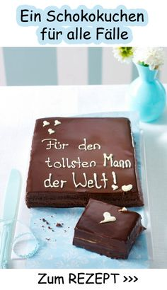 Chocolate cake with love - the perfect gift - Backen mit Liebe - Kuchen Sweet Recipes, Cake Recipes, Snack Recipes, Cake & Co, Eat Cake, Food Cakes, Cupcake Cakes, Pumpkin Spice Cupcakes, Fall Desserts