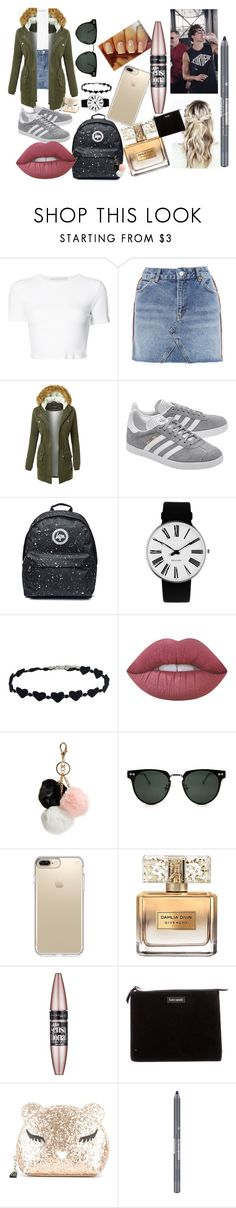"""Casual date with Calum challenge 2"" by a-bb-ie ❤ liked on Polyvore featuring Rosetta Getty, Topshop, LE3NO, adidas Originals, Rosendahl, Lime Crime, GUESS, Spitfire, Speck and Givenchy"