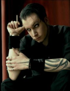 """Chris Pohl from Blutengel. """"Dear god, I'd marry him in a heartbeat. Plus...he's German. <3""""-- I did not write that but I left it bc I feel the same way! lol"""