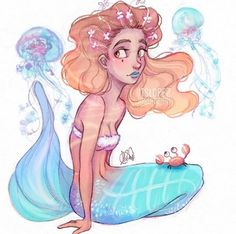 itslopez, art, and draw image mermaid
